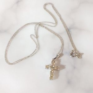 Jewelry - JUST IN 🌺 Imperial Topaz Cross Pendant & Chain